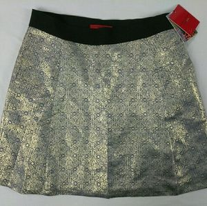 Narciso Rodriguez Metallic Gold A-line Skirt sz 14